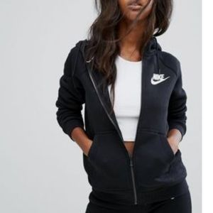 NIKE Black Zip Up Sweatshirt Hoodie